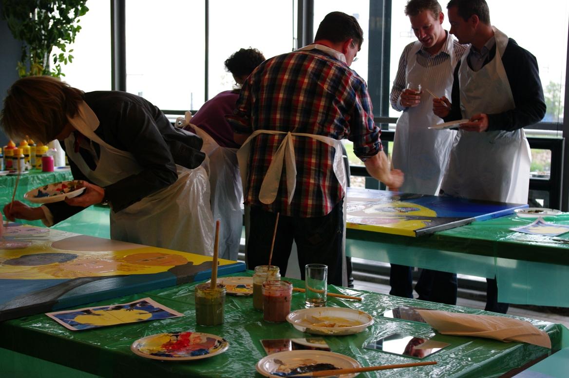 Schilderworkshops Multipainting Rabobank Rotterdam