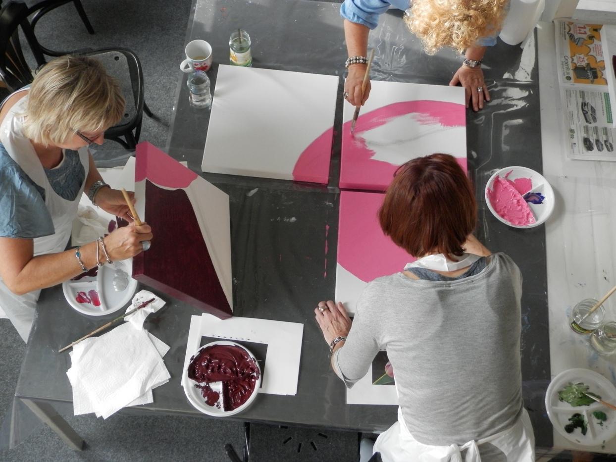 Vriendinnenworkshop Meerluik thema tulp